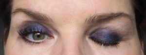 Makeup: Blauer Lidschatten