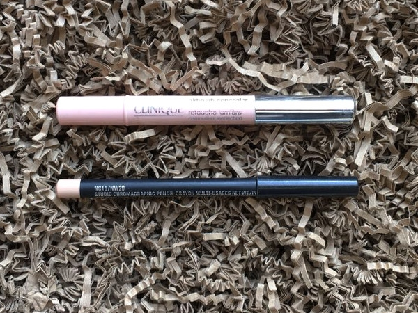 MAC Chromagraphic Pencil Clinique Airbrush Concealer