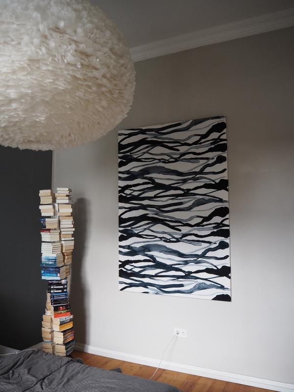 DIY Bild aus Stoff Ikea Stockholm