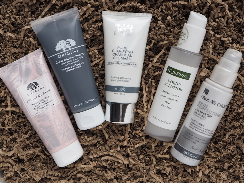 Unreinheiten Pickel Origins Clear Improvement Original Skin Paulas Choice Clarifying Charcoal Mask Skin Perfecting BHA Gel HighDroxy Porify Solution