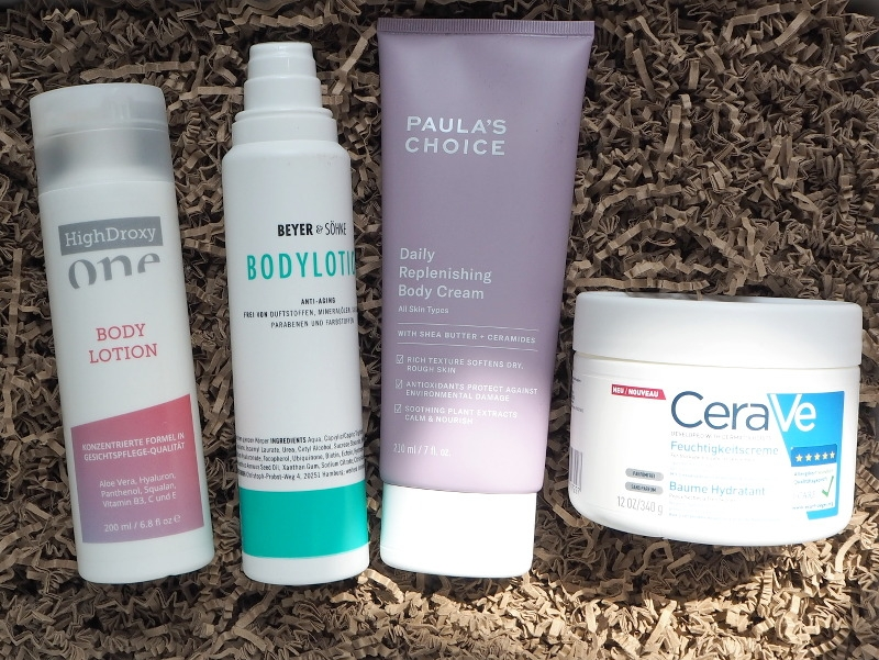 Bodylotion Juni 2018 Paulas Choice Daily replenishing Body Cream HighDroxy One Bodylotion Beyer und Soehne Bodylotion CeraVe Feuchtigkeitscreme