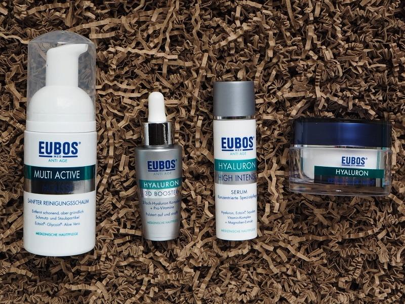 Eubos Multi Active Reinigungsschaum Hyaluron 3D Booster Hyaluron High Intensiv Serum Hyaluron Nachtcreme
