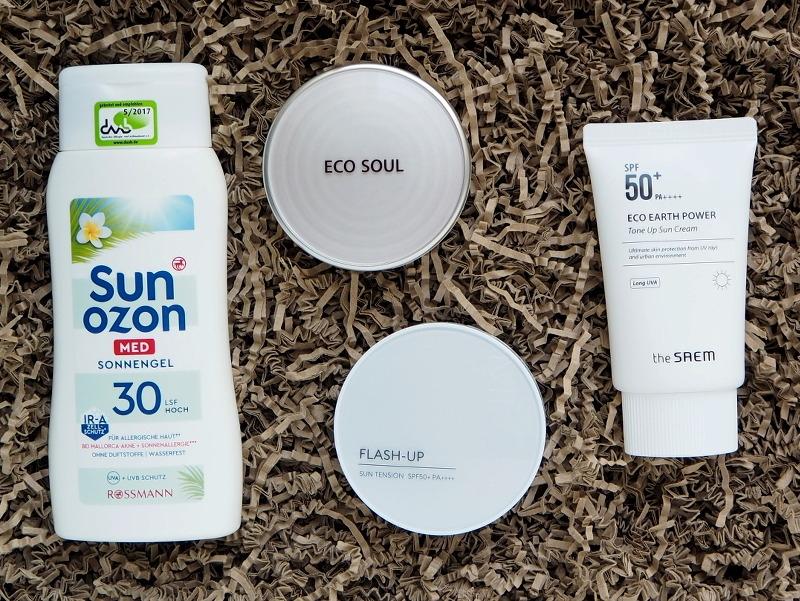 Sun Ozon Sonnengel TheSaem Tone Up Sun Cream Eco Soul UV Sun Pac Missha Flash Up Sun Tension