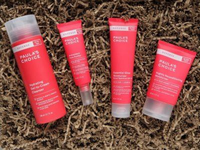 Paula's Choice Defense Hydrating Gel to cream Cleanser Antioxidant Pore Purifier Essential Glow Moisturizer Nightly Reconditioning Moisturizer