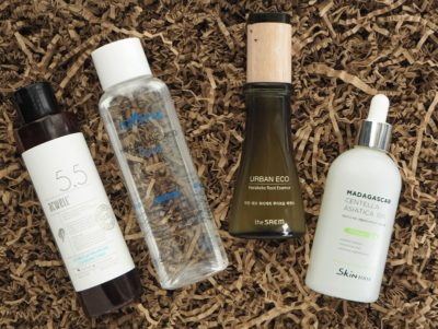Korea K-Beauty Acwell Licorice Toner Isntree Hyalurnic Acid Toner The SAEM Urban Eco Harakeke Root Essence Skin1004 Madagascar Centella Asiatica 100