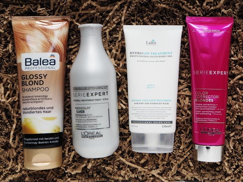 Balea Glossy Blond Shampoo Loreal Professionel Silver Shampoo Color Corrector Blondes Lador Hydro LPP Treatment