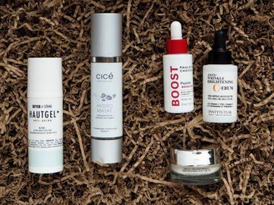 Beyer&Söhne Hautgel+ Cice Hydromaske Paulas Choice Peptide Booster Instytutum C-Serum Instytutum Eye Cream