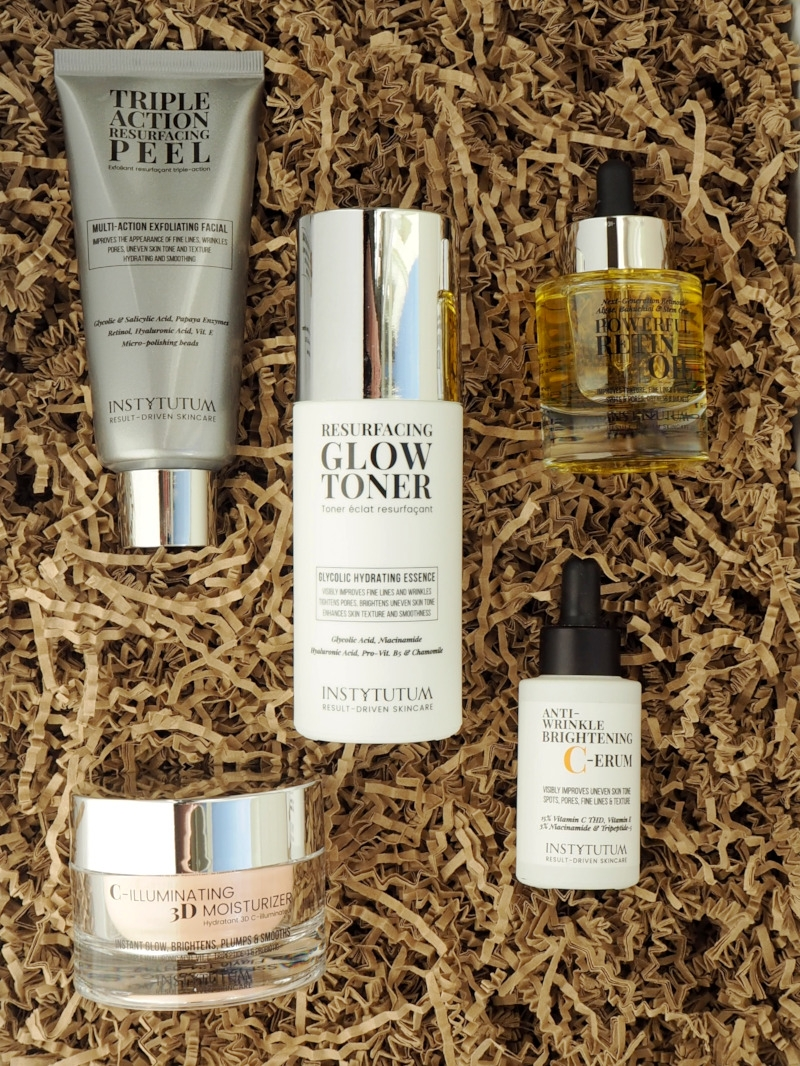 Instytutum Triple Action Peel Glow Toner Retin Oil C-Illuminating 3D Moisturizer Brightening C-erum