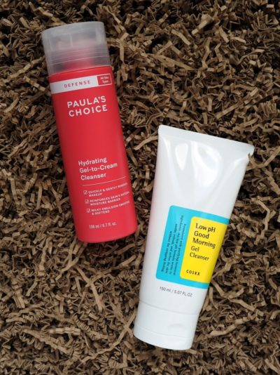 Paulas Choice Defense Hydrating Cleanser COSRX Low pH Good MOrning Gel Cleanser