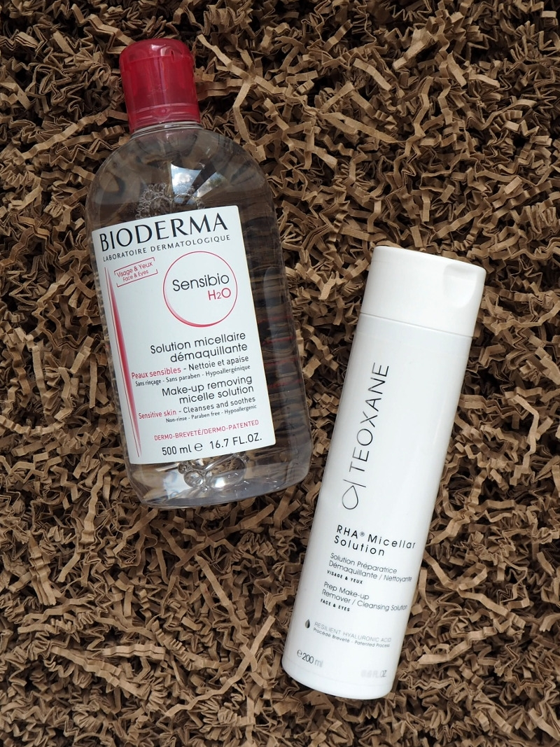 Reinigung Bioderma Sensibio H2O Teoxane RHA Micellar Solution