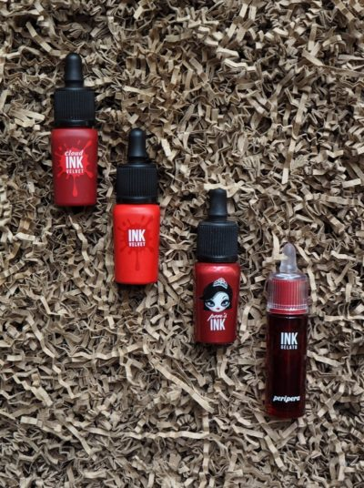 Peripera Lip Ink Ink Cloud Velvet #5 Redish Rose Ink Velvet #15 Girlish Red Ink Moist #3 Top Red Ink Gelato #05 Fun Place Deep Red
