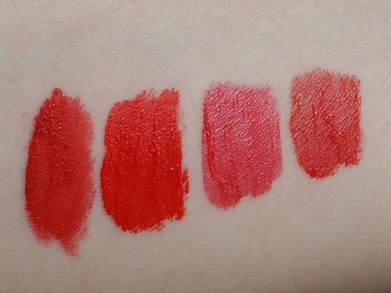 Peripera Lip Ink Ink Cloud Velvet #5 Redish Rose Ink Velvet #15 Girlish Red Ink Moist #3 Top Red Ink Gelato #05 Fun Place Deep Red Swatches