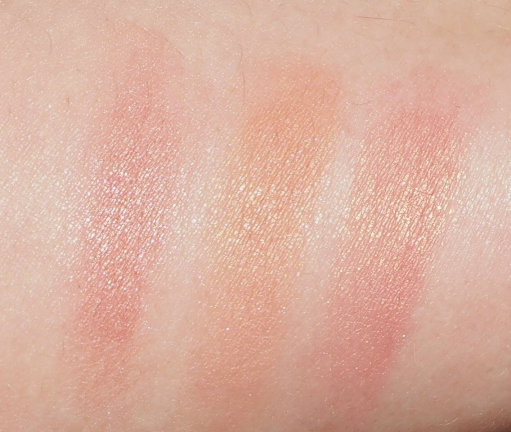 Blushes Swatch Max Factor Miracle Touch Blush Soft Murano Korres Illuminating Blush Peach Golden Pink
