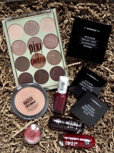 Makeup Pixi Eye Reflection Shadow Palette Korres Illuminating Blush Powder Maybelline Master Chrome Max Factor Miracle Touch Blush