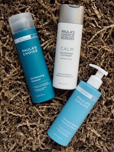 Paulas Choice Oil Reducing Cleanser Calm Nourishing Cleanser Balanced Foaming Cleanser