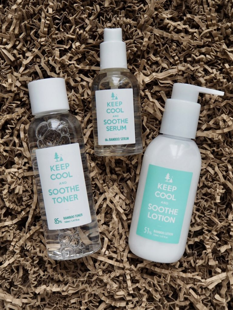 Keep Cool Soothe Toner Soothe Serum Soothe Lotion