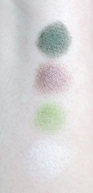 201904 Grüner Lidschatten MAC Humid und Kryolan Lime Swatch