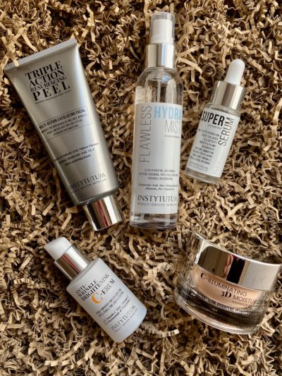 Instytutum Triple Action Surfacing Peel Flawless Hydra Mist Super Serum C-erum C-Illuminating 3D Moisturizer