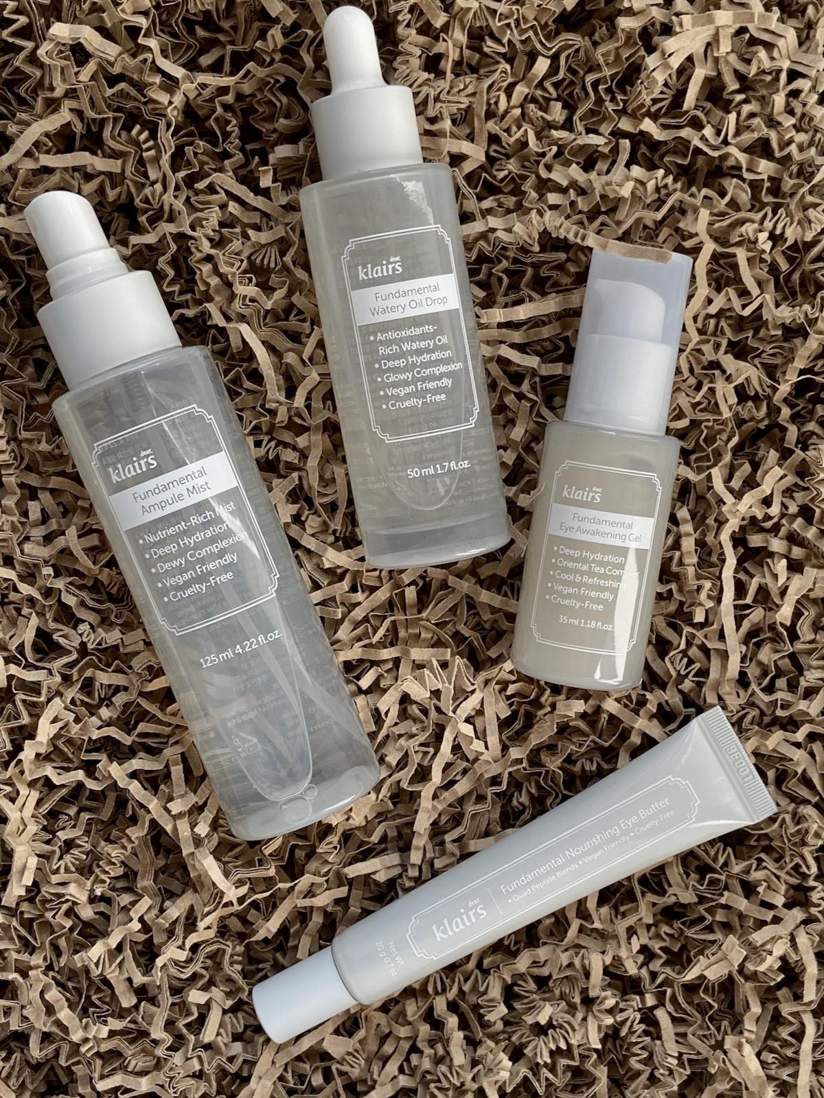 Klairs Fundamental Serie Ampule Mist Watery Oil Drops Eye Awakening Gel Nourishing Eye Butter