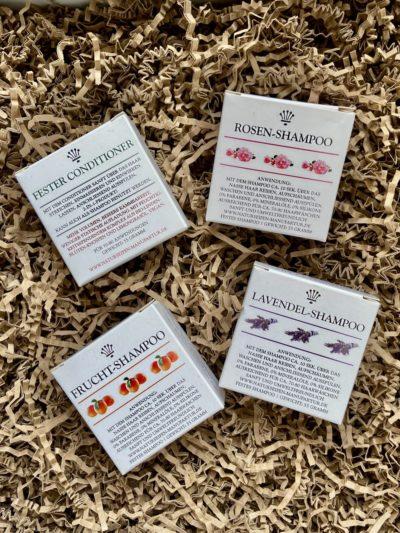 Naturseifen Manufaktur Uckermark Rosen-Shampoo Frucht-Shampoo Lavendel-Shampoo Conditioner