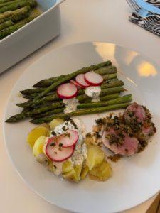 Wochenendrezept: Spargel, Radieschen und Schweinefilet in Variante Superlecker