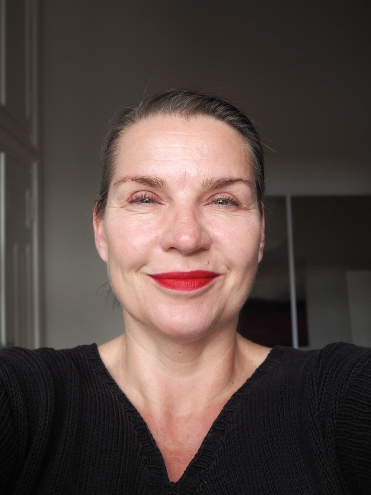Roter Lippenstift Gesamteindruck