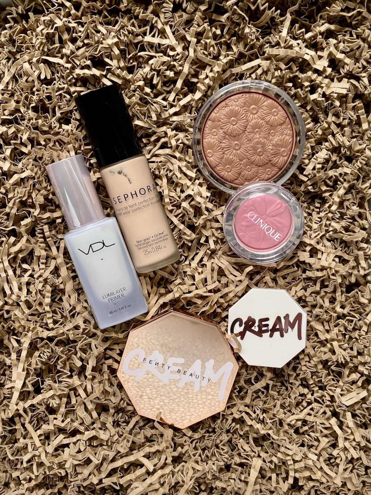 VDL Lumilayer Primer Sephora 10HR Foundation Clinique Poweder Bronzer Cheek Pop Fenty Beauty Ceram Blush Cream Bronzer