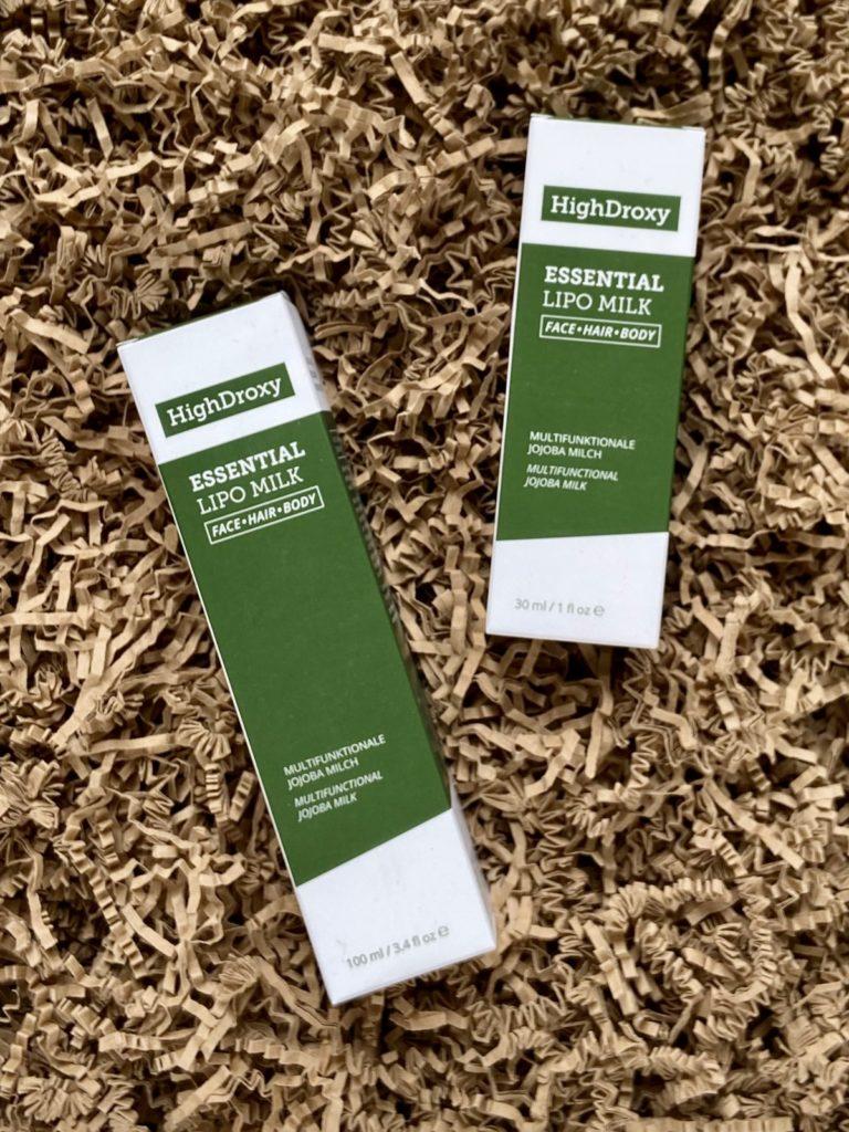 HighDroxy Essential Lipo Milk Verpackung