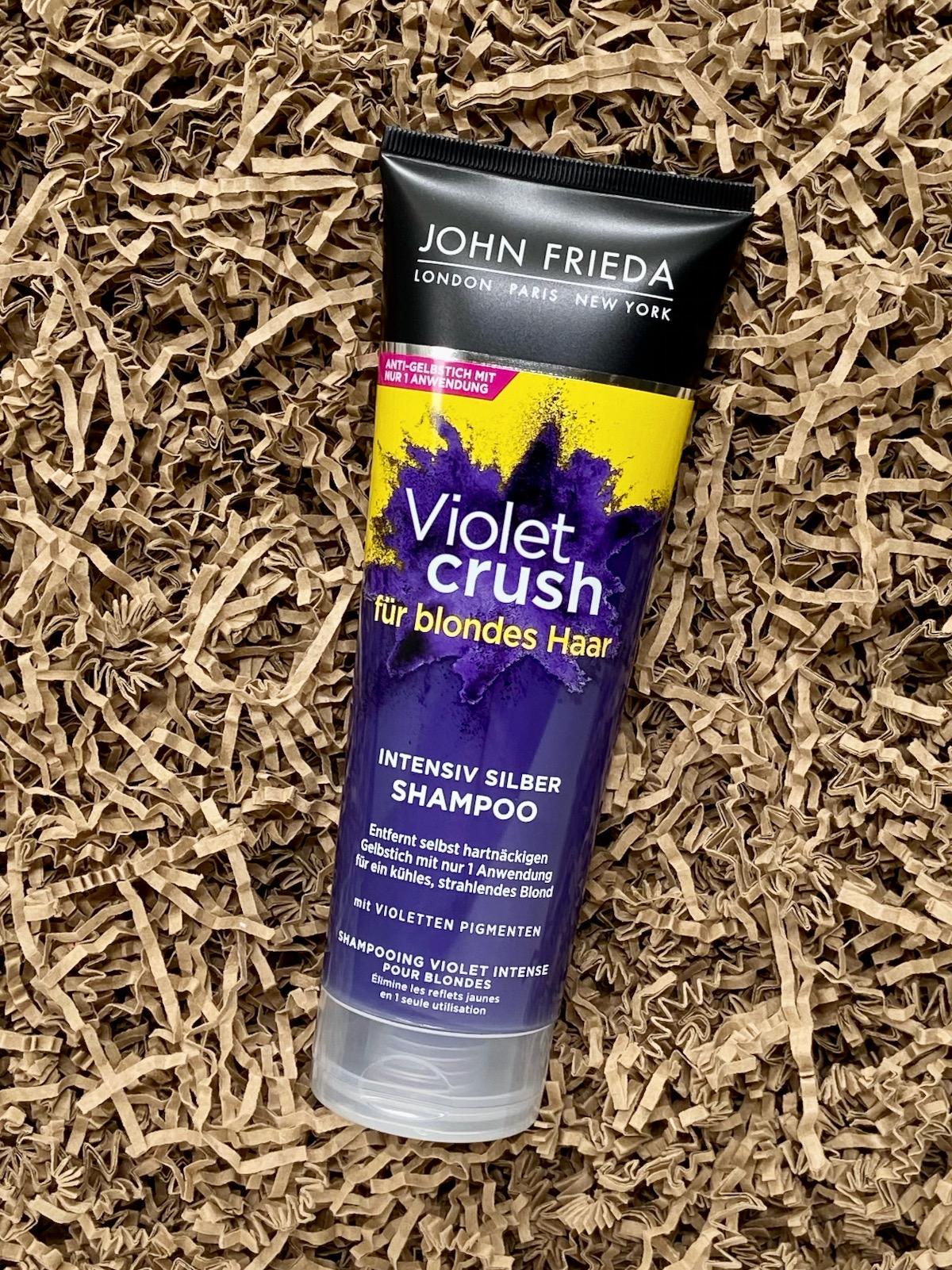 John Frieda Violet Crush Intensiv Silber Shampoo Tube