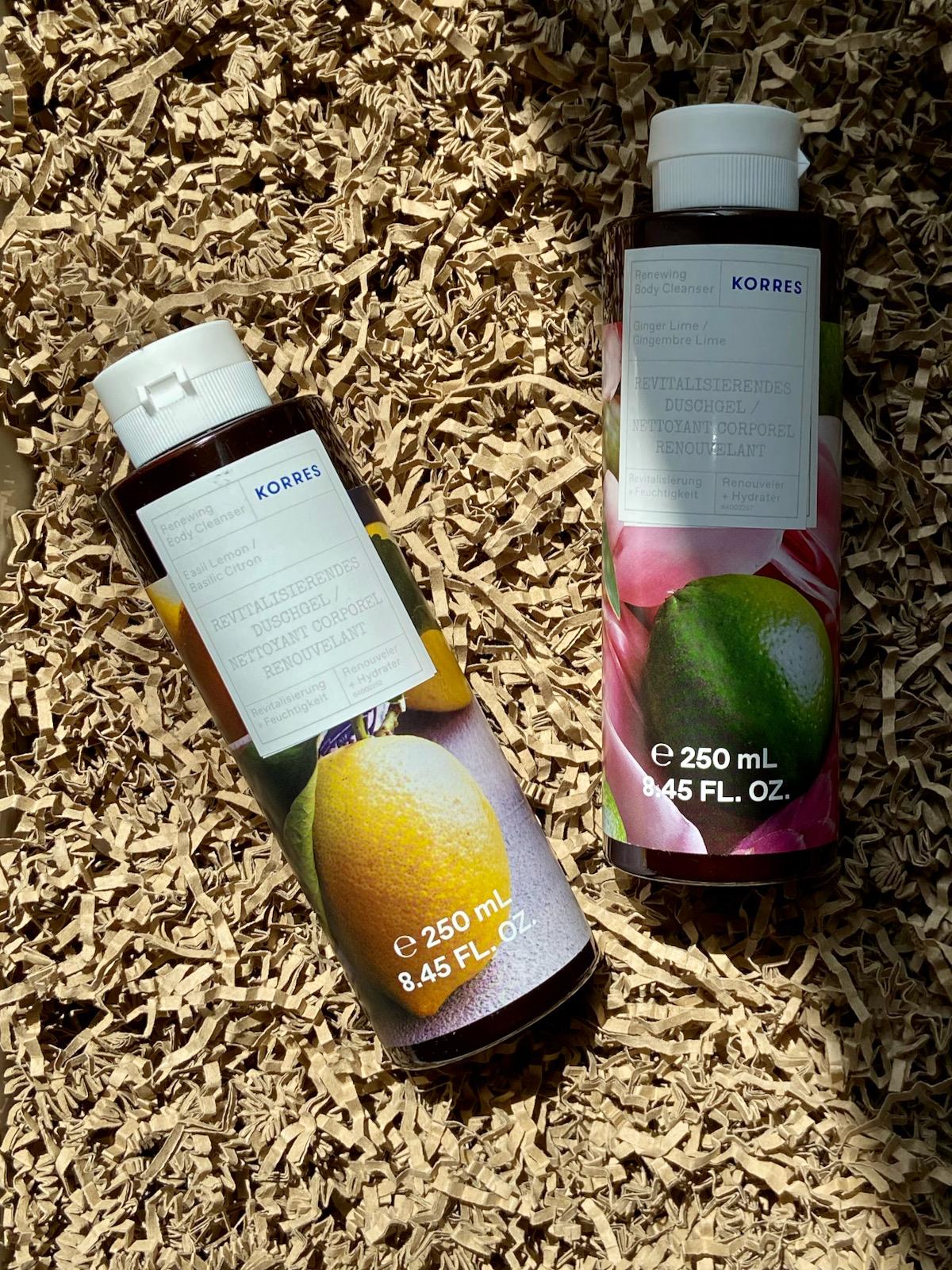 Korres Duschgel Basil Lemon und Ginger Lime Sommer