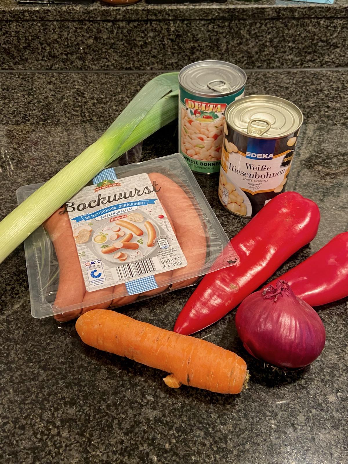 Weiße Bohnensuppe Zutaten